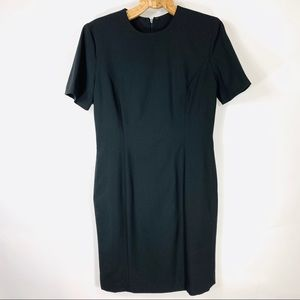 Black Classic Sheath Dress LBD Sz 12 Vintage